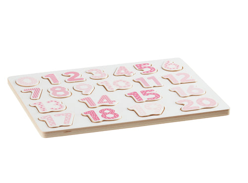 Kids Concept Number Puzzle - Pink - Green Monkeys