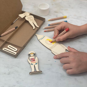 Make Your Own Space Scene Activity Kit