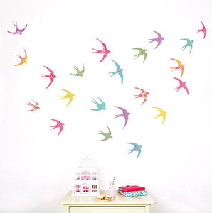 Shanghai Swallows Wall Stickers - more stock coming soon - Green Monkeys