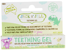 Laden Sie das Bild in den Galerie-Viewer, Natural Teething Gel Jack N' Jill 15g/0.53oz - Green Monkeys