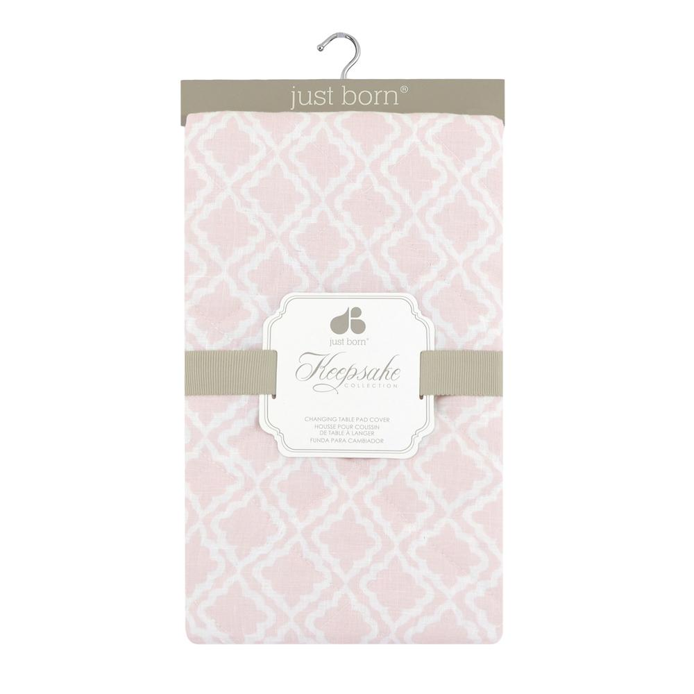 Just Born® Keepsake Pink Diamond Changing Pad Cover-Gerber Childrenswear Wholesale