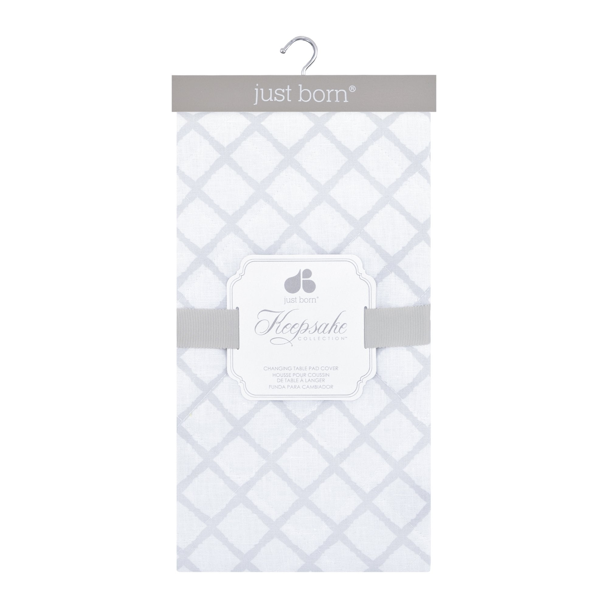 Just Born Keepsake Changing Pad Cover - Diamond Trellis-Gerber Childrenswear Wholesale