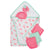 4-Piece Baby Girls' Flamingo Terry Hooded Bath Wrap & Washcloths Set-Gerber Childrenswear Wholesale