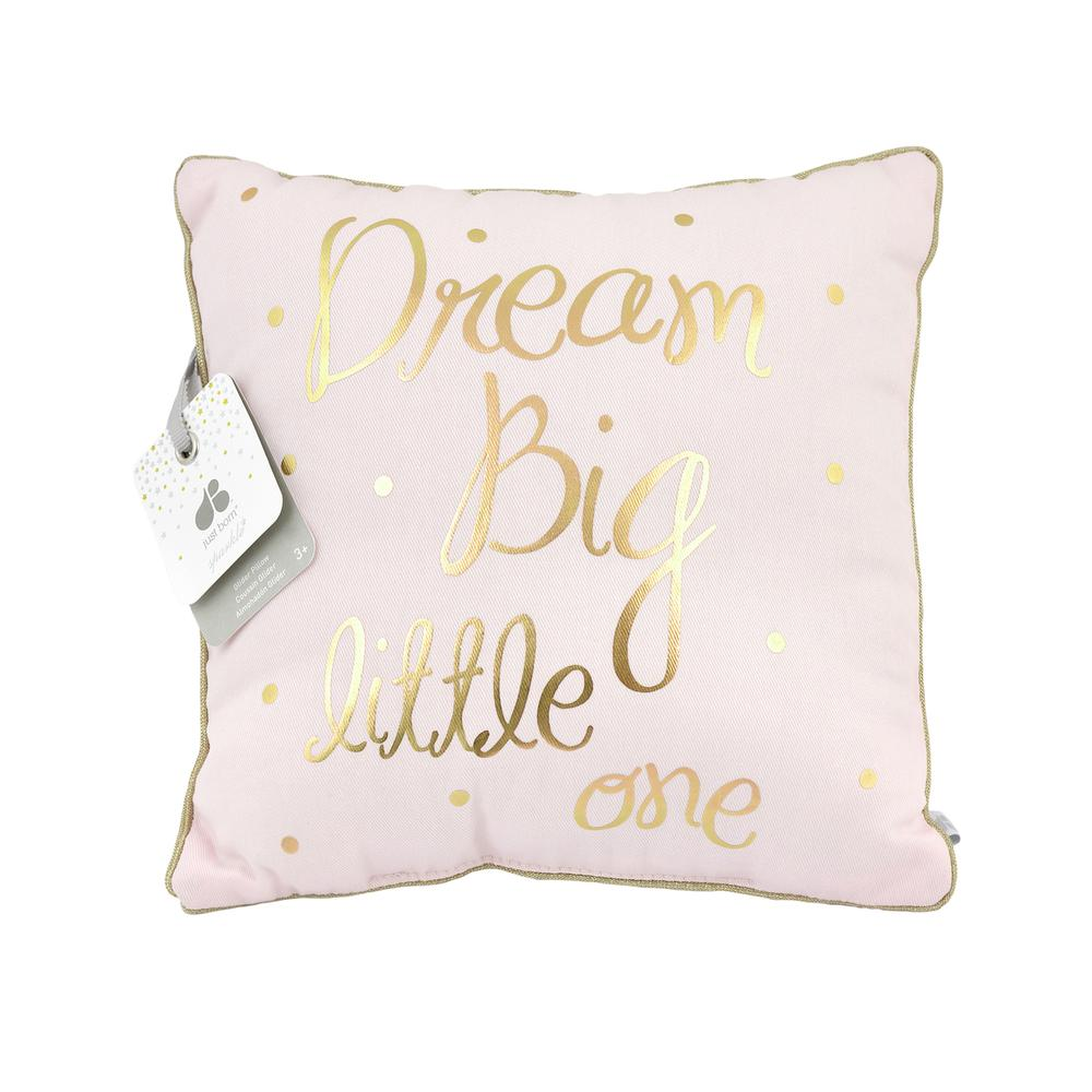 Just Born® Sparkle Pink Decorative Pillow-Gerber Childrenswear Wholesale