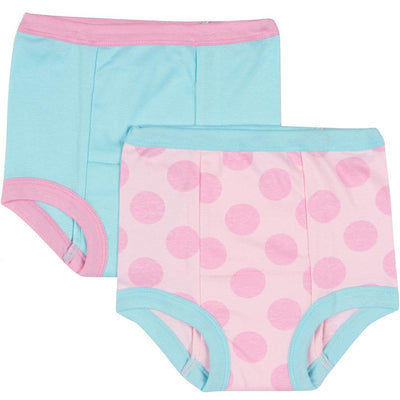 2-Pack Girls Pink Dot Training Pants-Gerber Childrenswear Wholesale