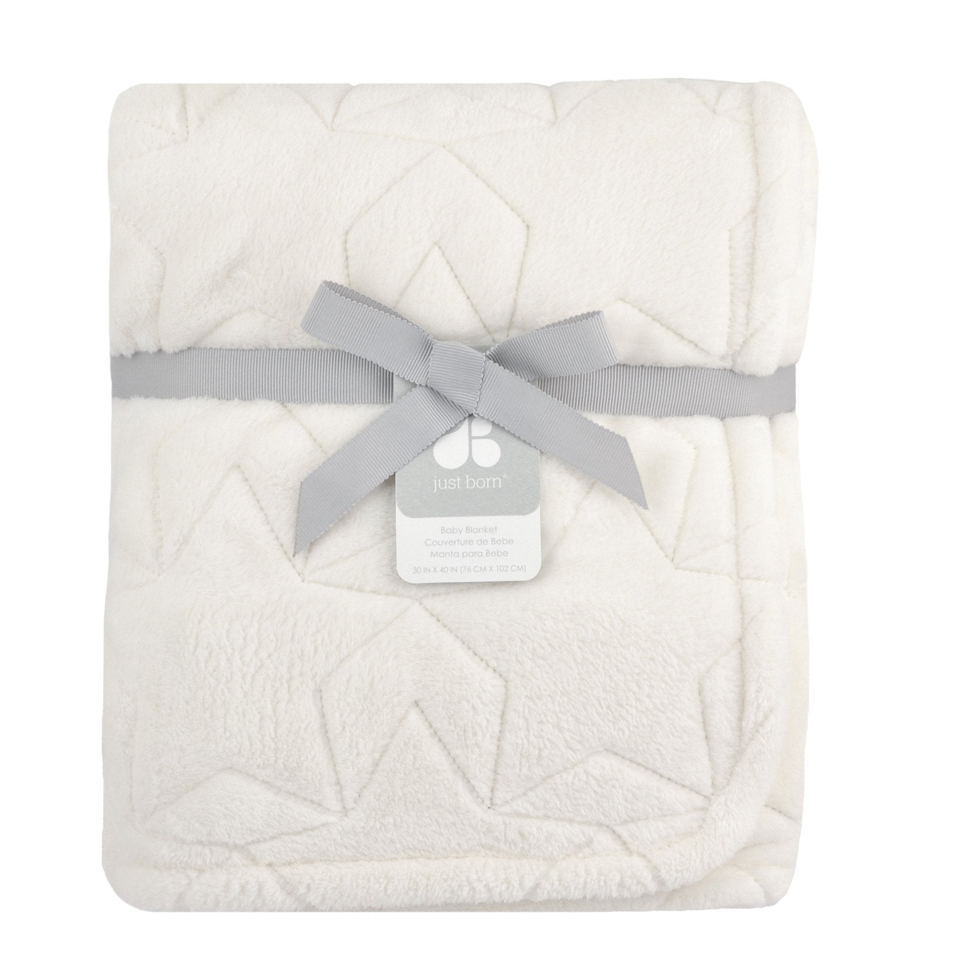 Just Born Star Luxury Blanket in Ivory-Gerber Childrenswear Wholesale