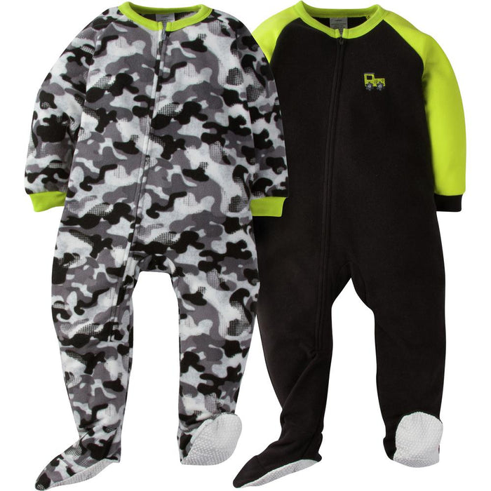 2-Pack Toddler Boy Camo Blanket Sleepers-Gerber Childrenswear Wholesale