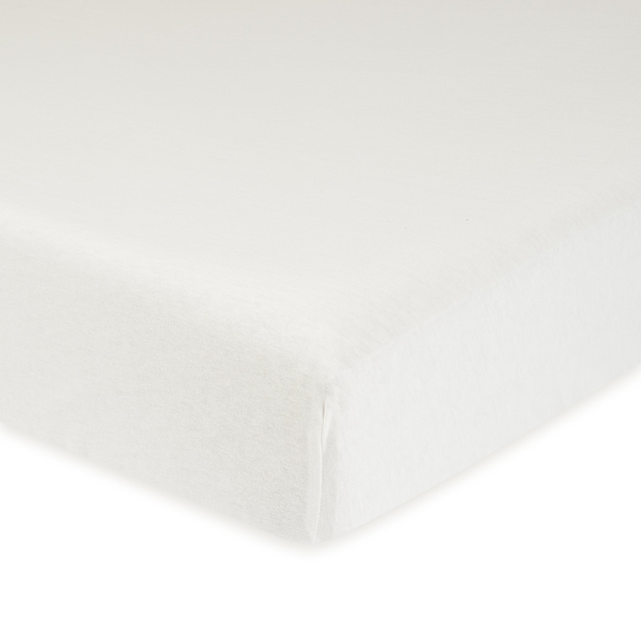 1-Pack Neutral White Organic Fitted Crib Sheet-Gerber Childrenswear Wholesale