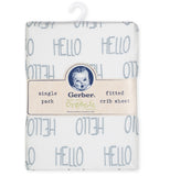 1-Pack Neutral Grey Organic Fitted Crib Sheet-Gerber Childrenswear Wholesale