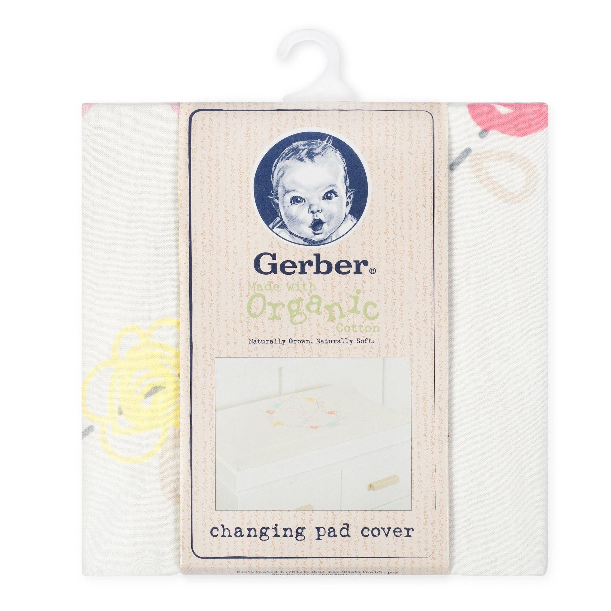 1-Pack Girls Love Organic Changing Pad Cover-Gerber Childrenswear Wholesale