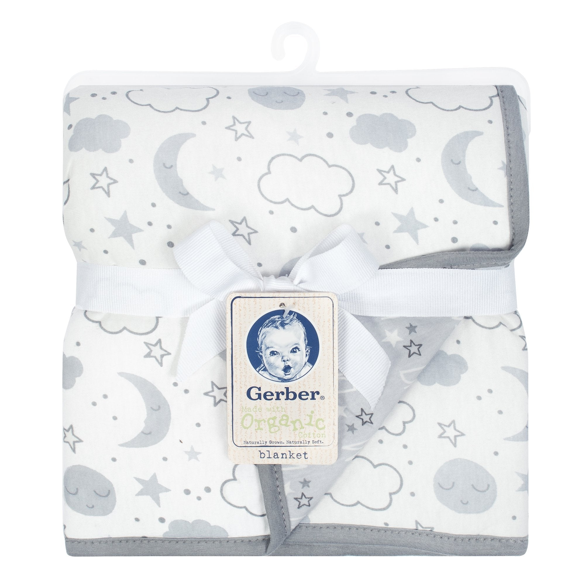 1-Pack Neutral Clouds Organic 2 Ply Blanket-Gerber Childrenswear Wholesale