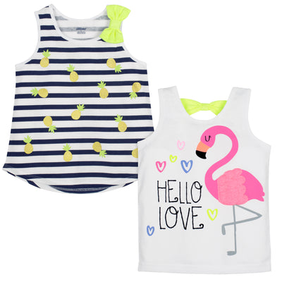 2-Pack Baby and Toddler Girls Flamingo Top-Gerber Childrenswear Wholesale