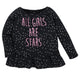 1-Pack Girls Stars Long Sleeve Top-Gerber Childrenswear Wholesale