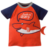 2-Pack Infant & Toddler Boys Dino and Shark Short Sleeve Tops-Gerber Childrenswear Wholesale