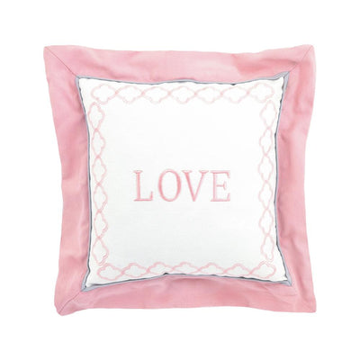 "Just Born Dream ""Love"" Throw Pillow, Pink-Gerber Childrenswear Wholesale"