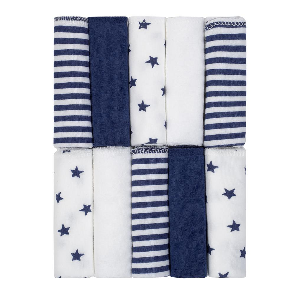 Just Born Baby Boy 10-pack Terry Washcloths-Gerber Childrenswear Wholesale