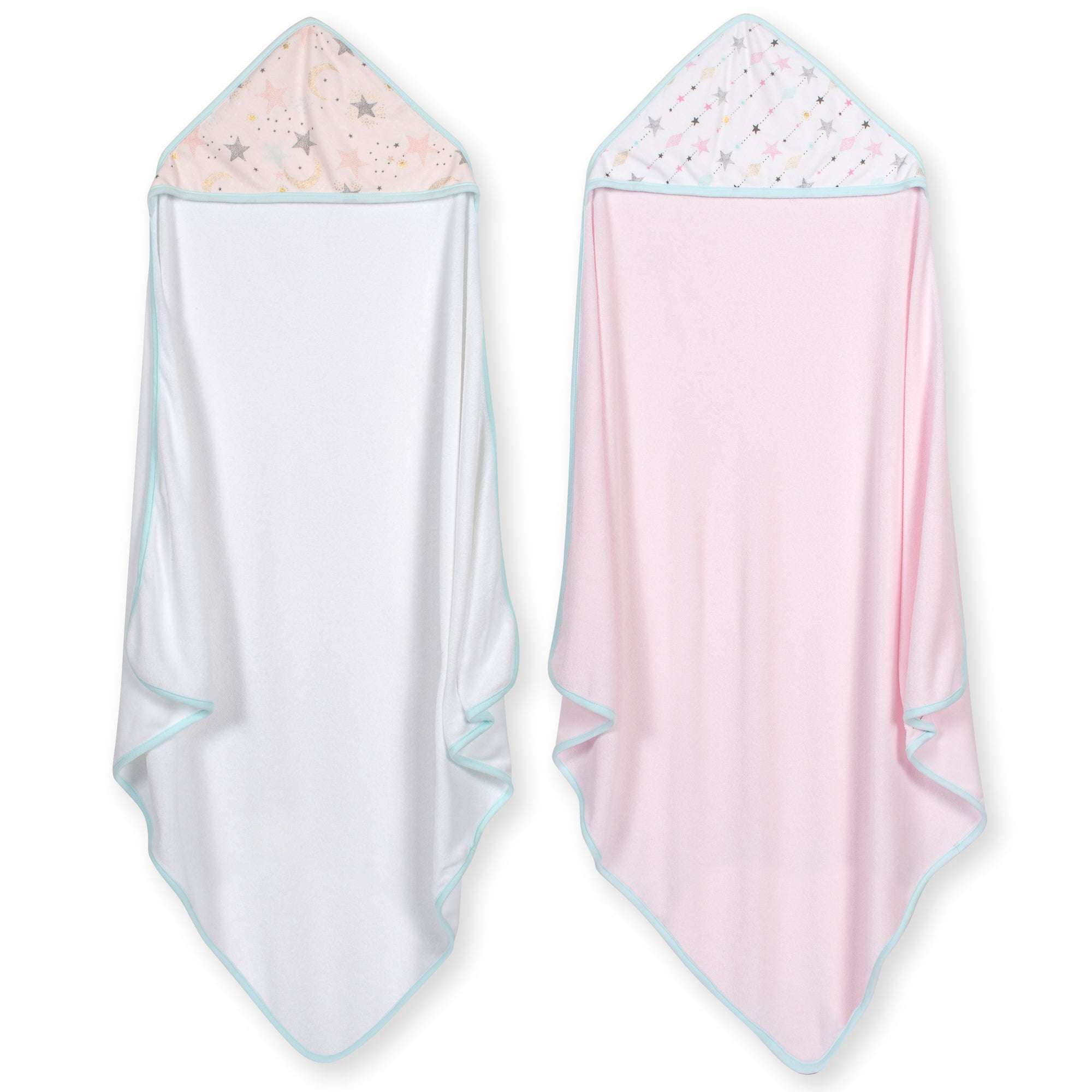 2-Pack Baby Girls Love and Sugar Hooded Towels-Gerber Childrenswear Wholesale