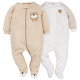 2-Pack Neutral Brown Bear Sleep N' Play-Gerber Childrenswear Wholesale