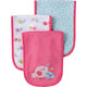 3-Pack Girls Little Bird Terry Burpcloths-Gerber Childrenswear Wholesale