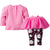 2-Piece Girls Roses Top & Tutu Leggings Set-Gerber Childrenswear Wholesale