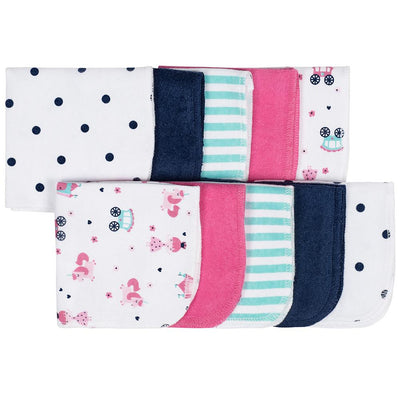 10-Pack Girls Princess Terry Washcloths-Gerber Childrenswear Wholesale