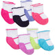 8-Pack Girls Wiggle-Proof Socks with Stay-On Technology-Gerber Childrenswear Wholesale