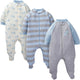 3-Pack Boys Bear Organic Sleep N' Play-Gerber Childrenswear Wholesale