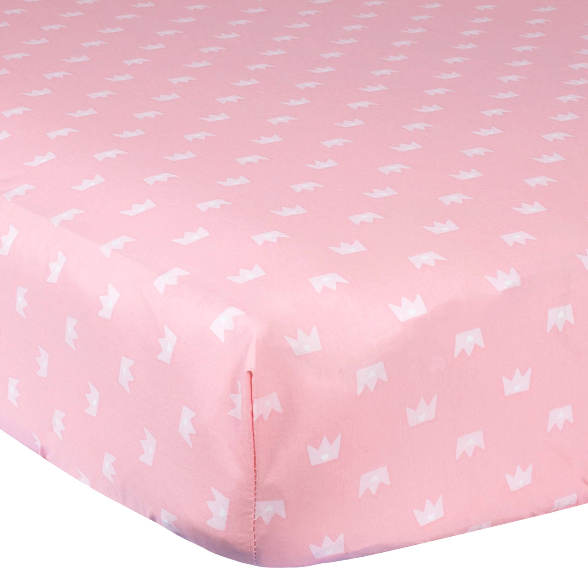 Girls Pink Princess Fitted Crib Sheet-Gerber Childrenswear Wholesale