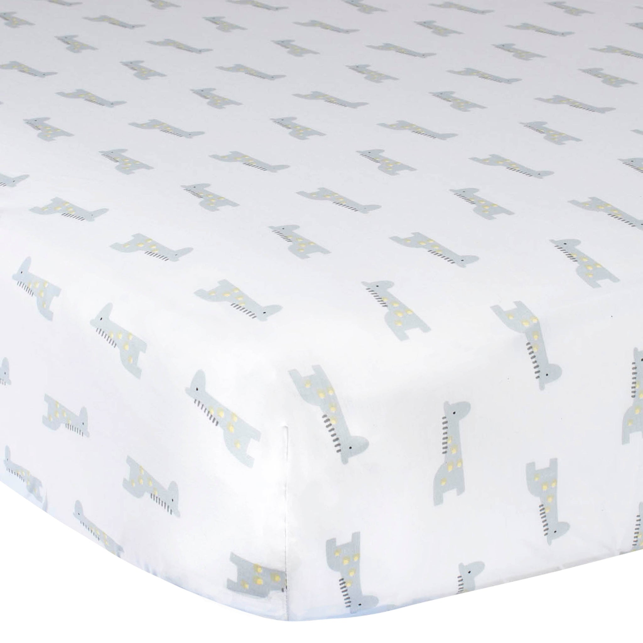 Baby Neutral Giraffe Fitted Crib Sheet-Gerber Childrenswear Wholesale