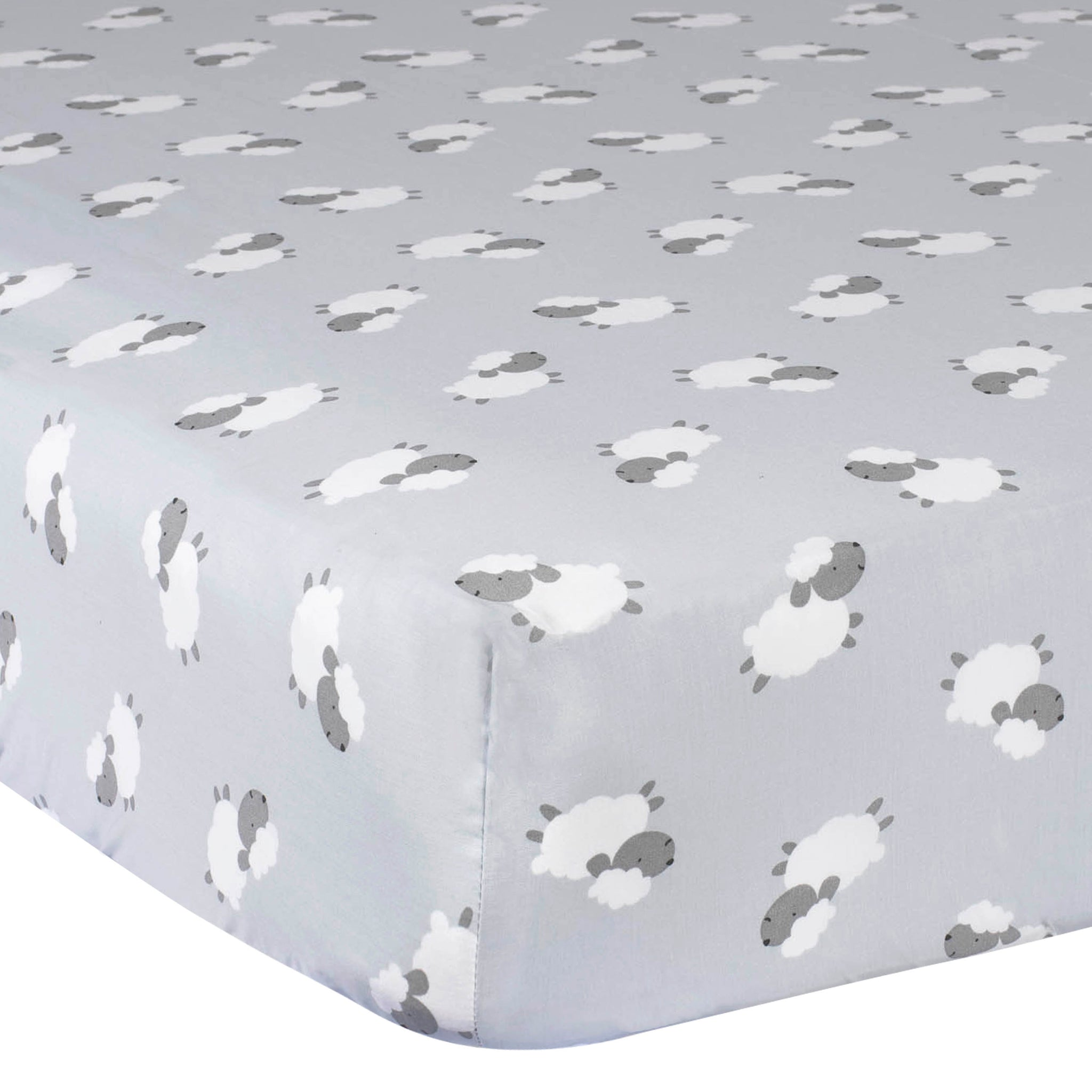 Baby Neutral Lamb Fitted Crib Sheet-Gerber Childrenswear Wholesale