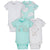 4-Pack Neutral Elephants Short Sleeve Onesies® Bodysuits-Gerber Childrenswear Wholesale