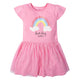 1-Piece Toddler Girls Rainbow Dress with Tulle Skirt-Gerber Childrenswear Wholesale