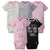 5-Pack Girls Bunny Onesies® Brand Short Sleeve Bodysuits-Gerber Childrenswear Wholesale