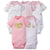 5-Pack Girls Princess Castle Onesies® Brand Short Sleeve Bodysuits-Gerber Childrenswear Wholesale