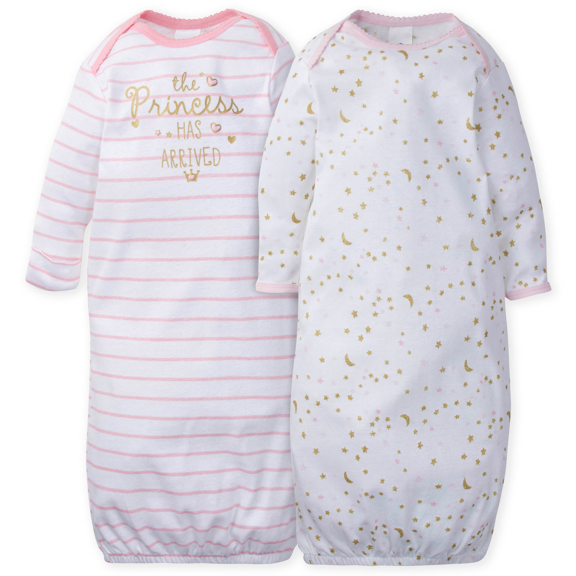 2-Pack Girls Princess Castle Gowns-Gerber Childrenswear Wholesale