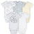 5-Pack Neutral Lamb Onesies® Brand Short Sleeve Bodysuits-Gerber Childrenswear Wholesale