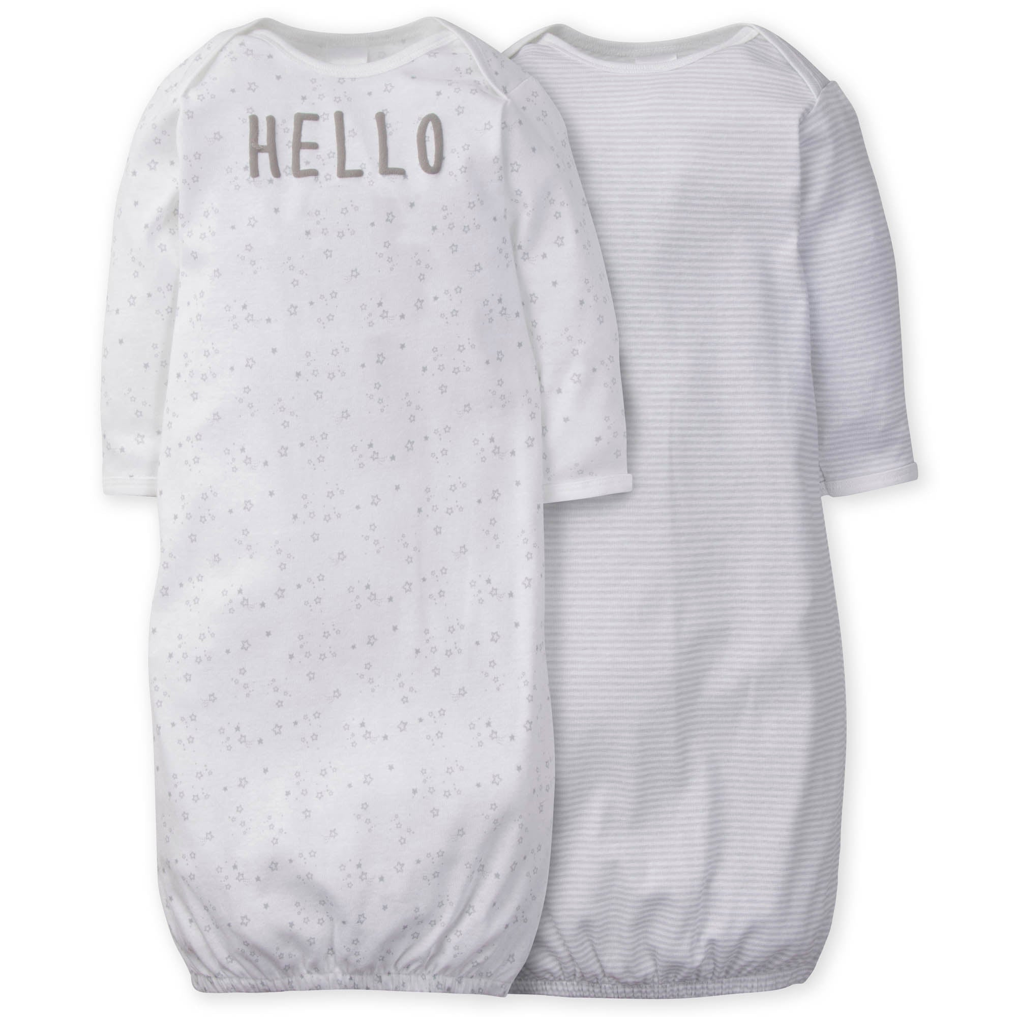 2-Pack Neutral Lamb Gowns-Gerber Childrenswear Wholesale
