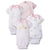 4-Pack Girls Princess Castle Short Sleeve Onesies® Bodysuits-Gerber Childrenswear Wholesale