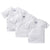 3-Pack White Side-Snap Short Sleeve Shirts-Gerber Childrenswear Wholesale