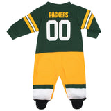 Green Bay Packers Baby Boys Footed Footysuit-Gerber Childrenswear Wholesale
