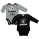 Raiders Baby Boys 2 Pack Long Sleeve Bodysuit-Gerber Childrenswear Wholesale
