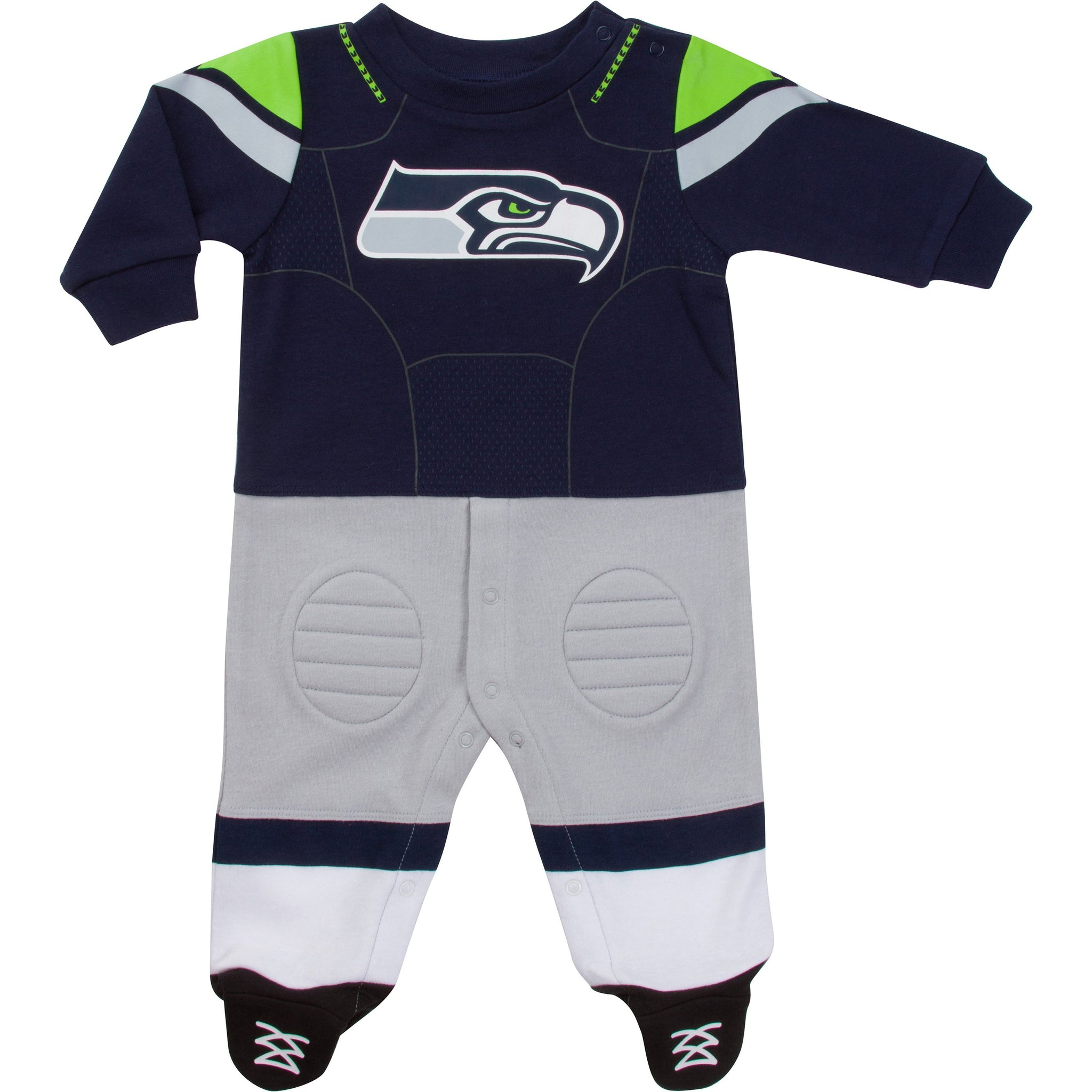 Seattle Seahawks Baby Boys Footed Footysuit-Gerber Childrenswear Wholesale