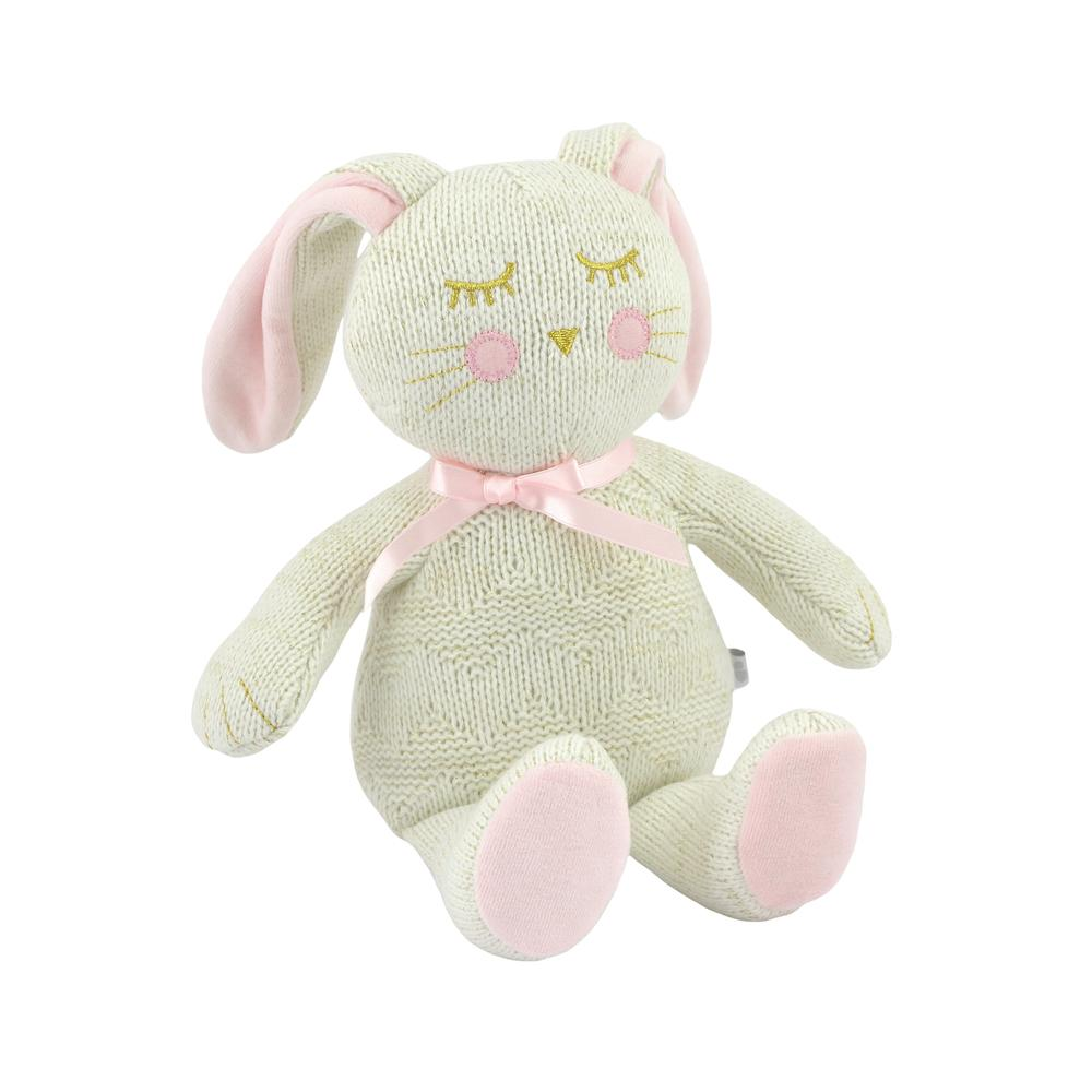 Just Born® Sparkle Sweater Knit Plush Bunny-Gerber Childrenswear Wholesale