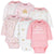 6-Pack Baby Girls Castle Long Sleeve Onesies® Bodysuits-Gerber Childrenswear Wholesale