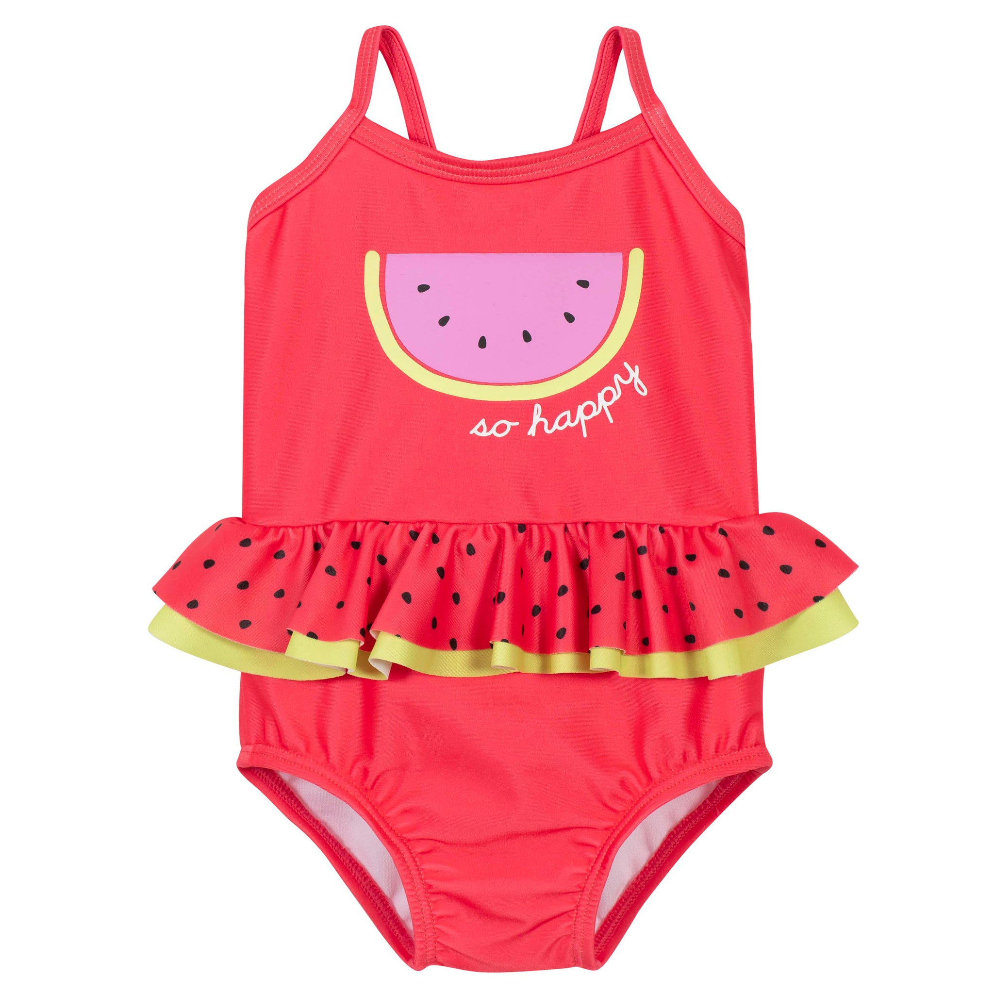 Girls Watermelon One-Piece Swimsuit-Gerber Childrenswear Wholesale