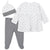 3-Piece Baby Girls Nature Shirt, Footed Pant, and Cap Set-Gerber Childrenswear Wholesale