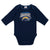 Baby Boys Los Angeles Chargers Long Sleeve Bodysuit, 2-pack-Gerber Childrenswear Wholesale