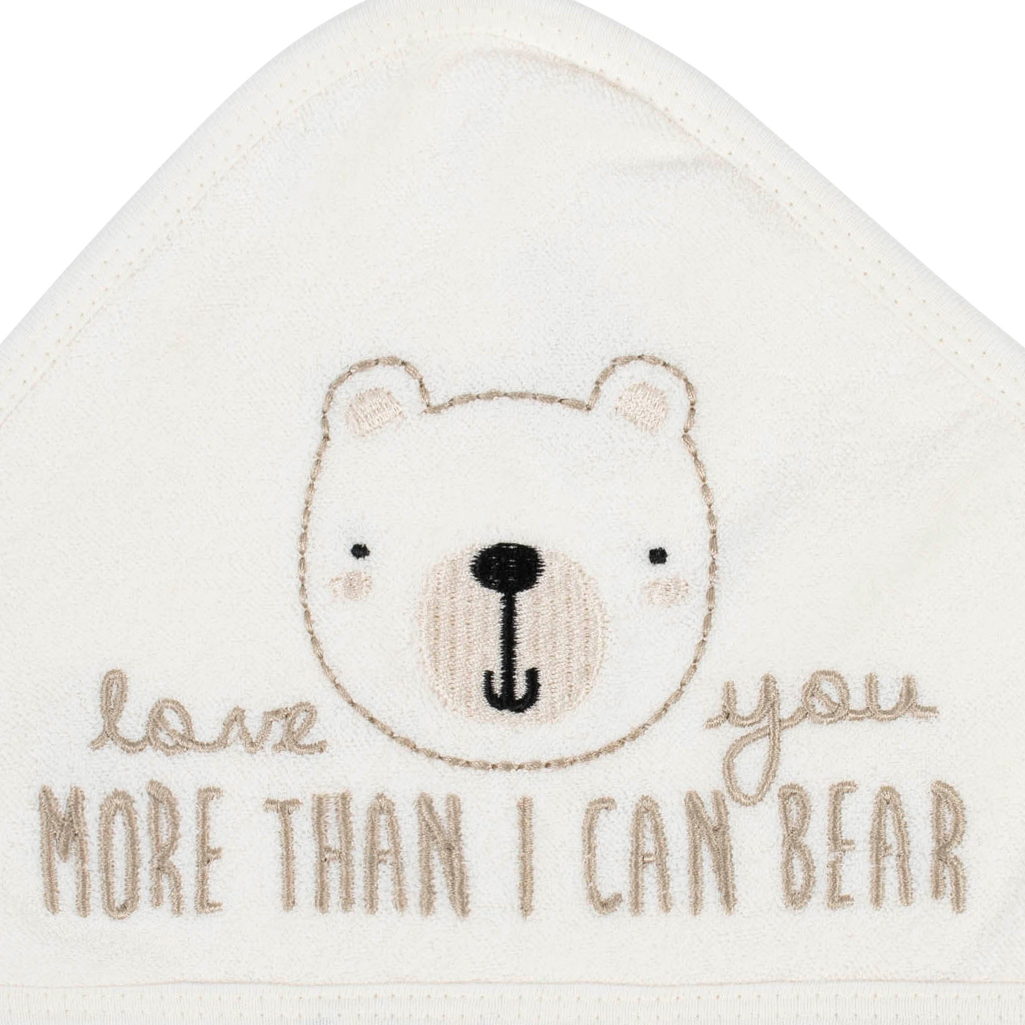2-Pack Organic Baby Boys Bear Terry Hooded Towels-Gerber Childrenswear Wholesale