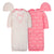 4-Piece Organic Baby Girls Floral Gown and Cap Set-Gerber Childrenswear Wholesale