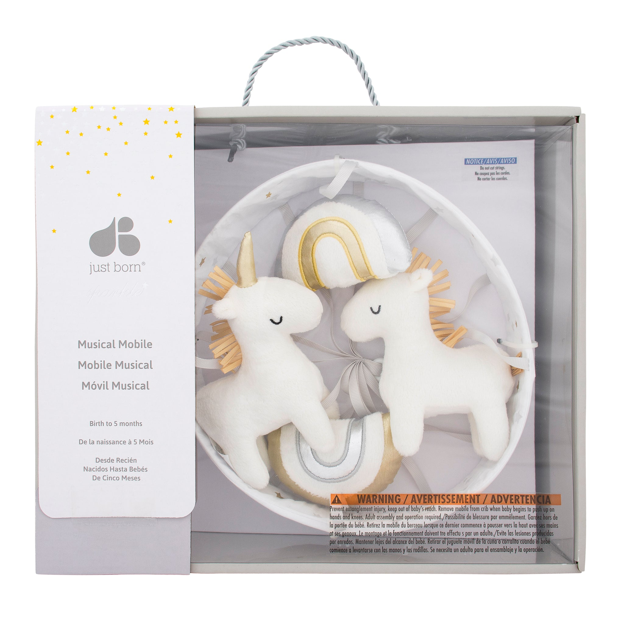 Baby Neutral Unicorns & Rainbows Mobile-Gerber Childrenswear Wholesale